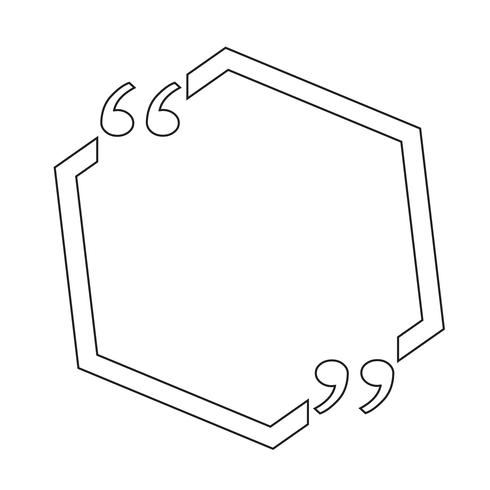 Citar la burbuja en blanco vector