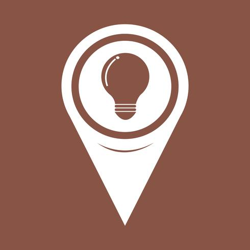 Map Pointer bulb icon