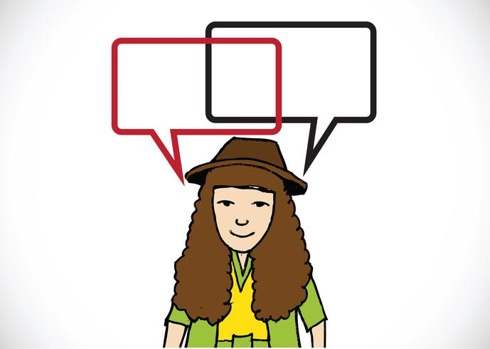 People thinking and peoples talking with dialog speech bubbles vector