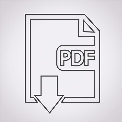 PDF icon  symbol sign vector
