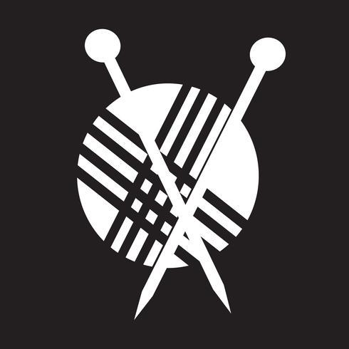 knitting icon  symbol sign vector
