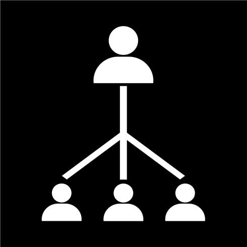people network icon vector