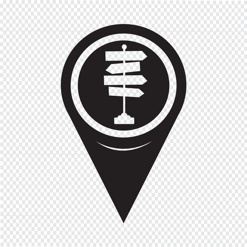 Map Pointer Signpost Icon vector