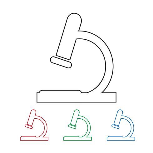 microscope icon  symbol sign vector