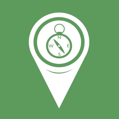 Icono de brújula de puntero de mapa