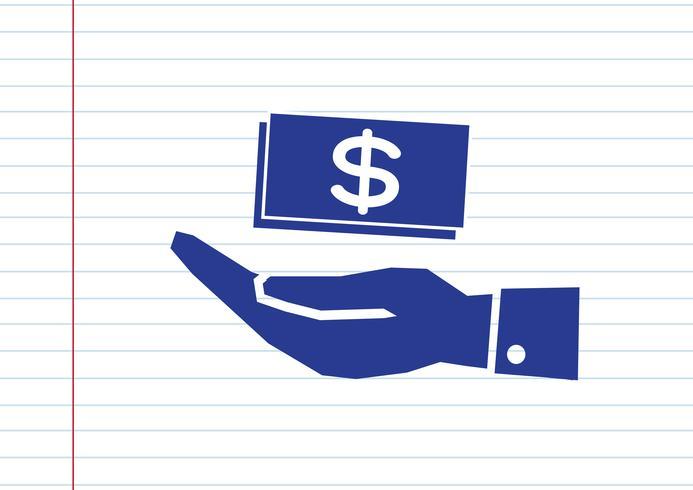 Hand Dollar-pictogram
