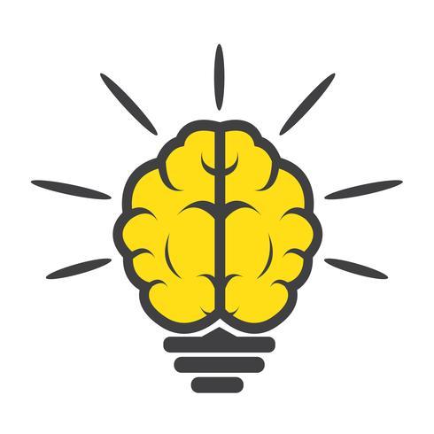 ícone de lâmpada de cérebro
