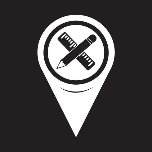 Mappa Puntatore Matita Con Icona Righello