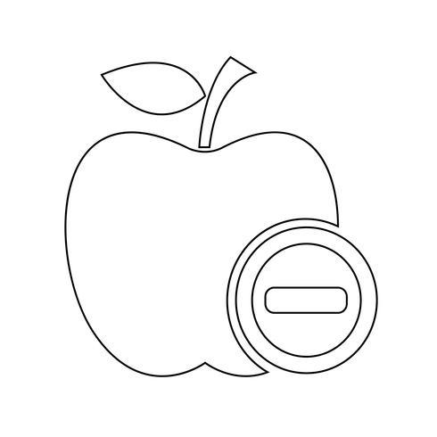 Apfel Symbol Symbol Zeichen