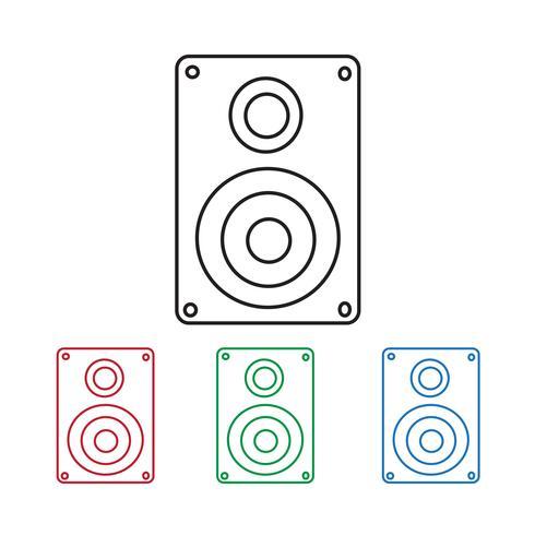 Ícone de alto-falantes de áudio