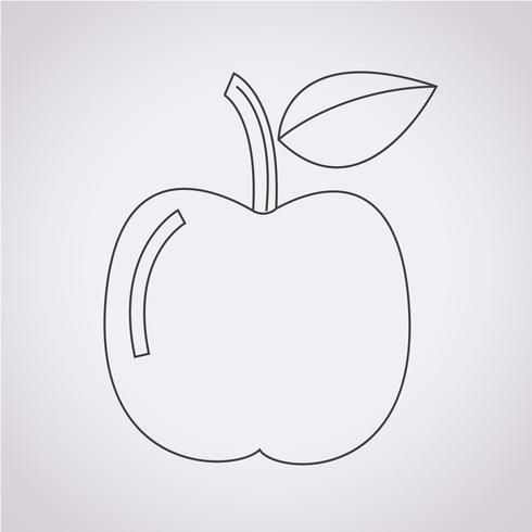 Sinal de símbolo de ícone da Apple