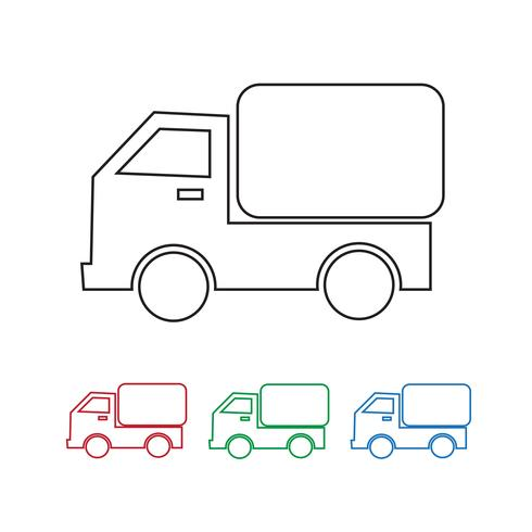 Car Truck Icon vector