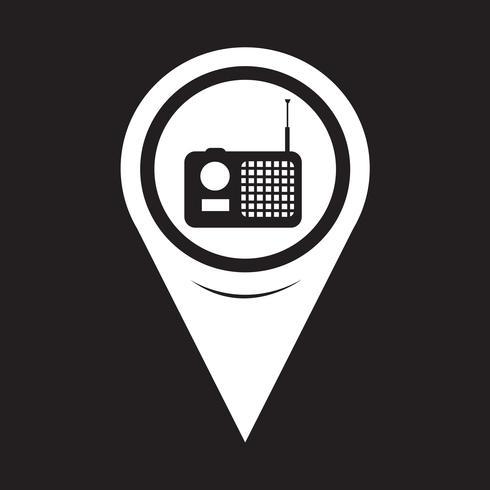 Icono de la radio del puntero del mapa