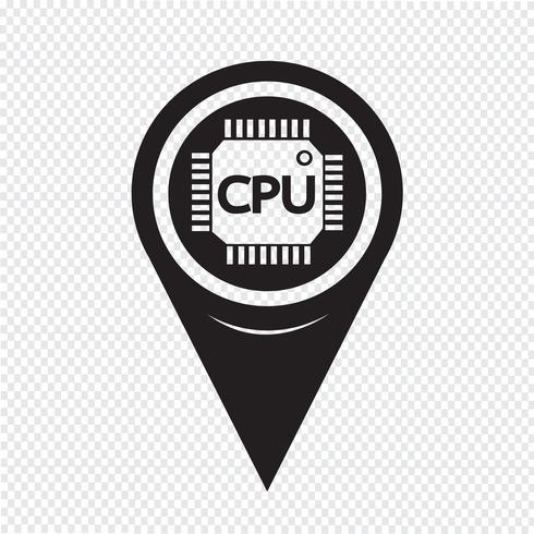 Icona della CPU del puntatore della mappa