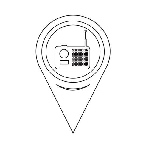 Icona della radio del puntatore della mappa