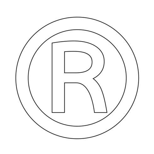Icône de marque déposée