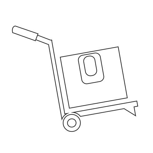 ícone de caixa de logística