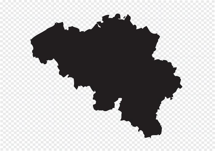 Mapa de Bélgica signo de símbolo