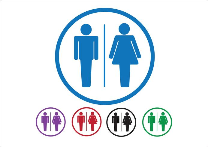Pictogram Man vrouw teken pictogrammen, toilet teken of toilet pictogram