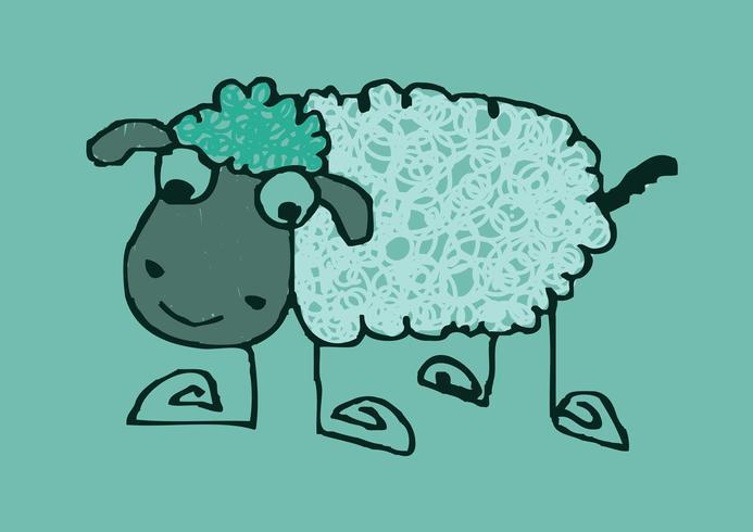 Schaf Cartoon Symbol Zeichen