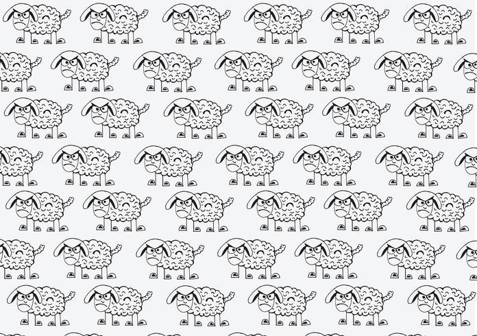 segno di simbolo del fumetto delle pecore
