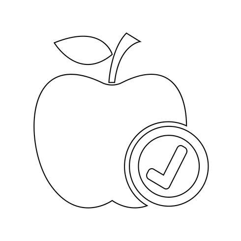 icono de manzana símbolo de signo