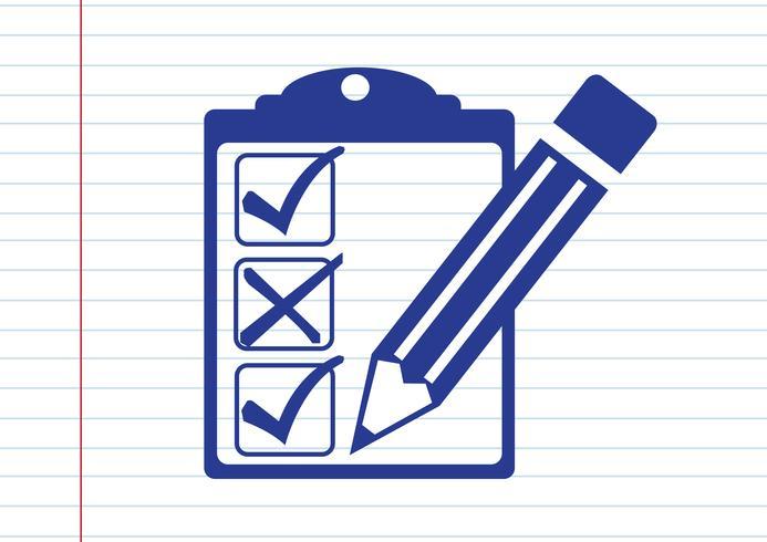 checklist icon  Symbol Sign vector