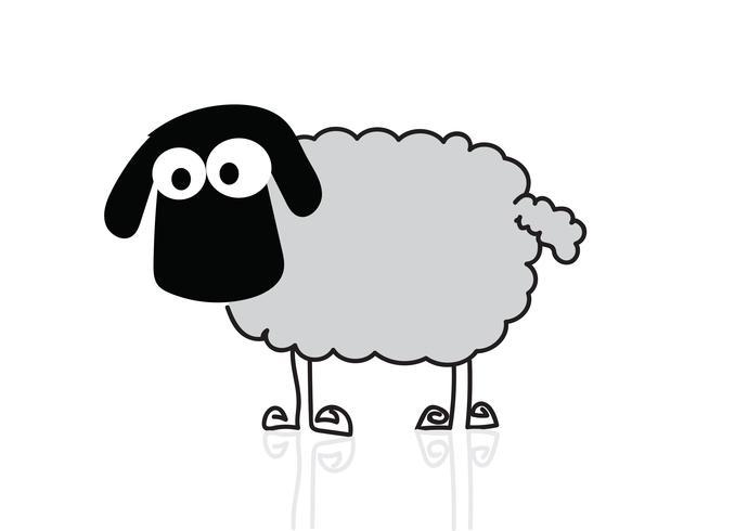 sheep cartoon  Symbol Sign