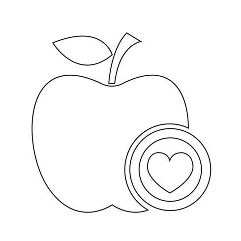 segno di simbolo dell'icona della mela