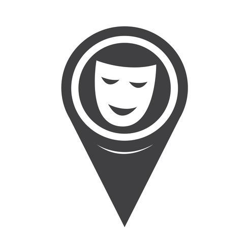 Icona puntatore mappa maschere teatrali
