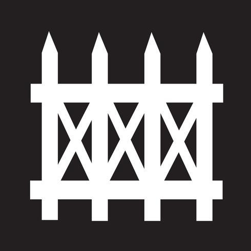 fence icon  symbol sign vector