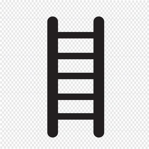 sinal de símbolo de ícone de escada