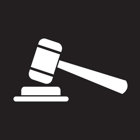 gavel icon  symbol sign vector