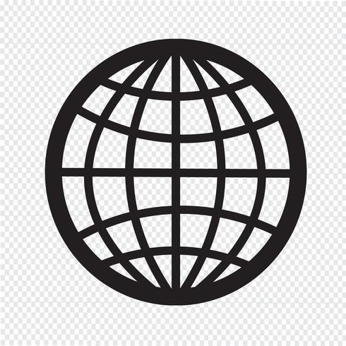 Globo ícone símbolo sinal vetor