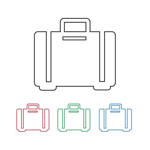 símbolo de ícone de bagagem