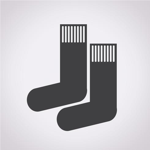 sock icon  symbol sign vector