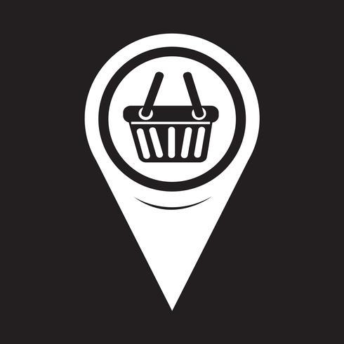 Icona del carrello della spesa puntatore della mappa