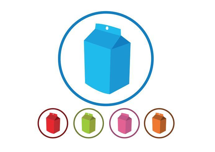 scatole di latte simbolo segno