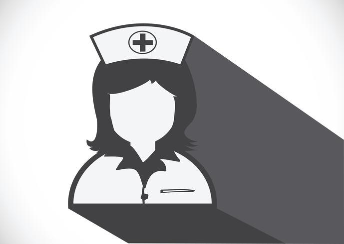 Iconos de enfermeras símbolo signo