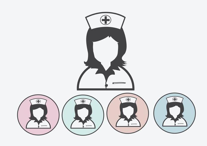 Verpleegkundigen pictogrammen symbool teken