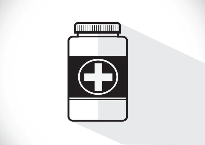 Geneeskunde fles symbool teken