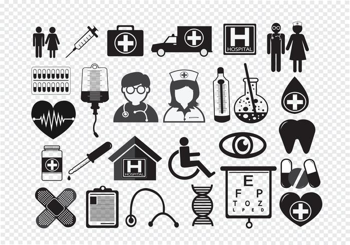 Medical Icons  Symbol Sign vector