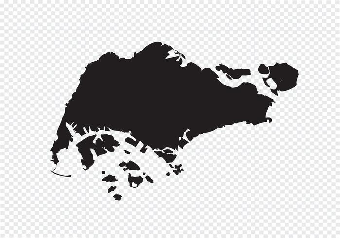 Carte de Singapour symbole signe vecteur