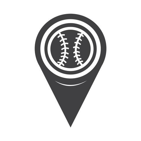 Icona di baseball del puntatore della mappa