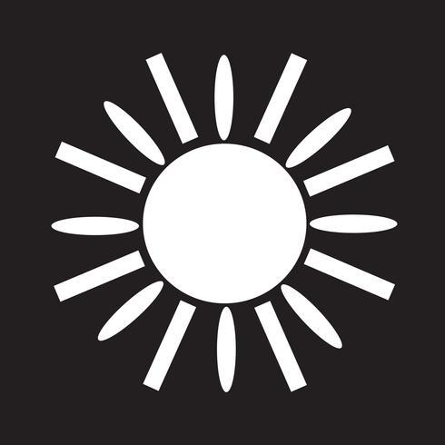 Zon pictogram symbool teken