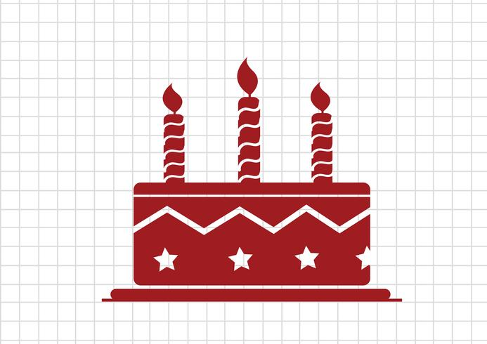 Birthday cake icon vector