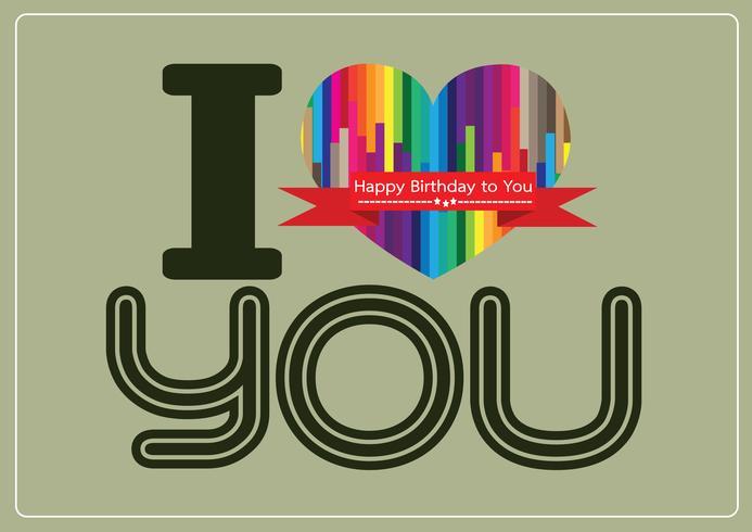 ti amo e buon compleanno idea idea design