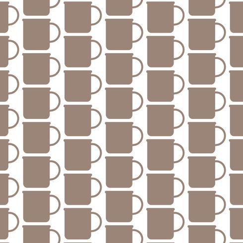 Pattern background cup of tea coffee icon vector