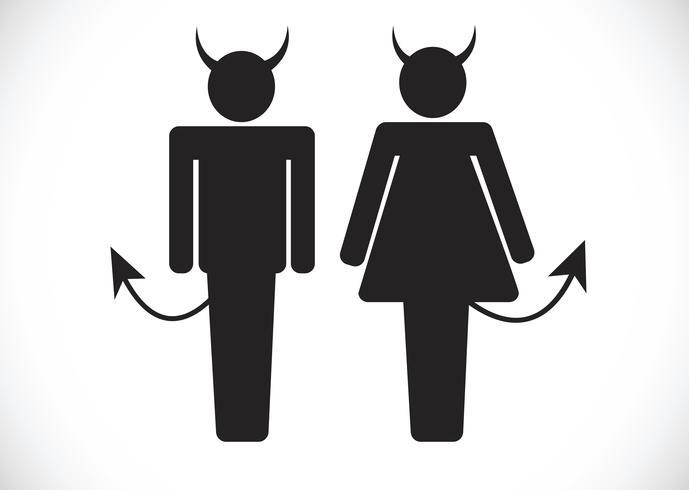 Pictogram Devil Icon Symbol Sign