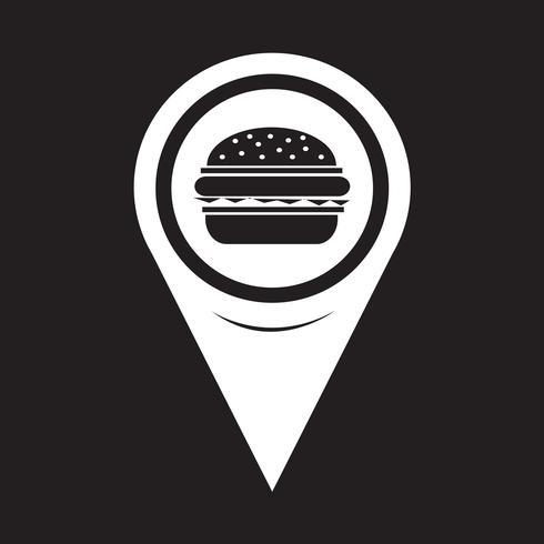 Icona del puntatore della mappa Burger